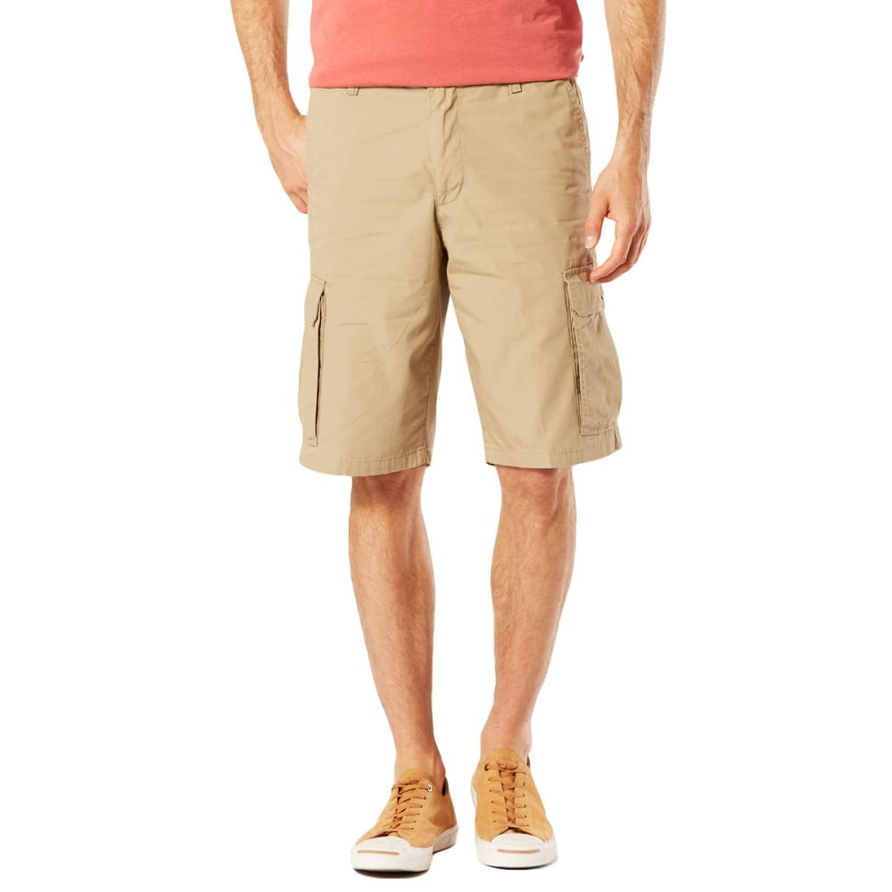DOCKERS Men's Stretch Poplin Cargo Shorts - N BRITISH KHAKI-0001