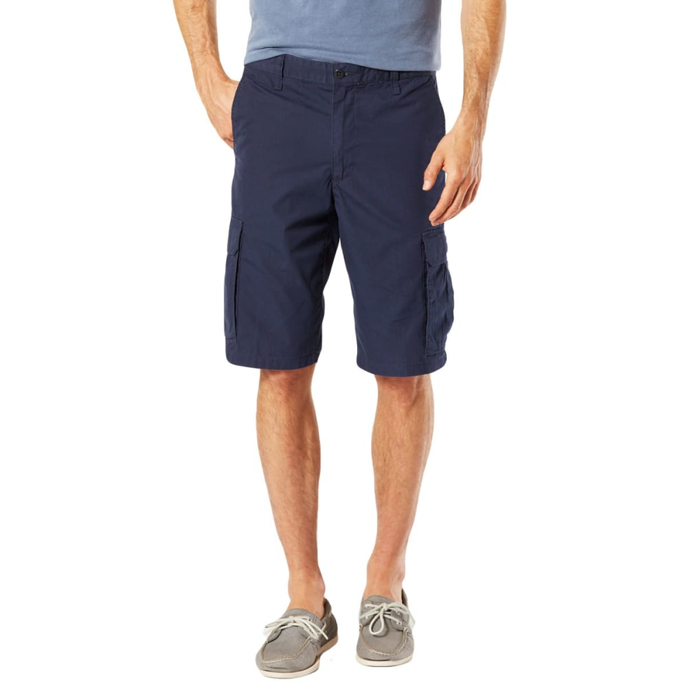 DOCKERS Men's Stretch Poplin Cargo Shorts - PEMBROOK NAVY - 0003