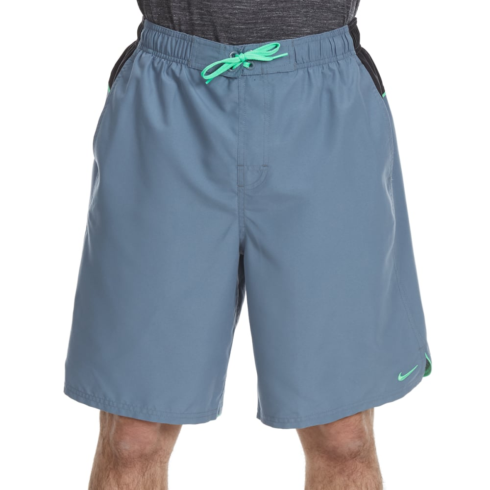 NIKE Men's Core Color Surge Swim Shorts - BLU GRAPH/GRN-483
