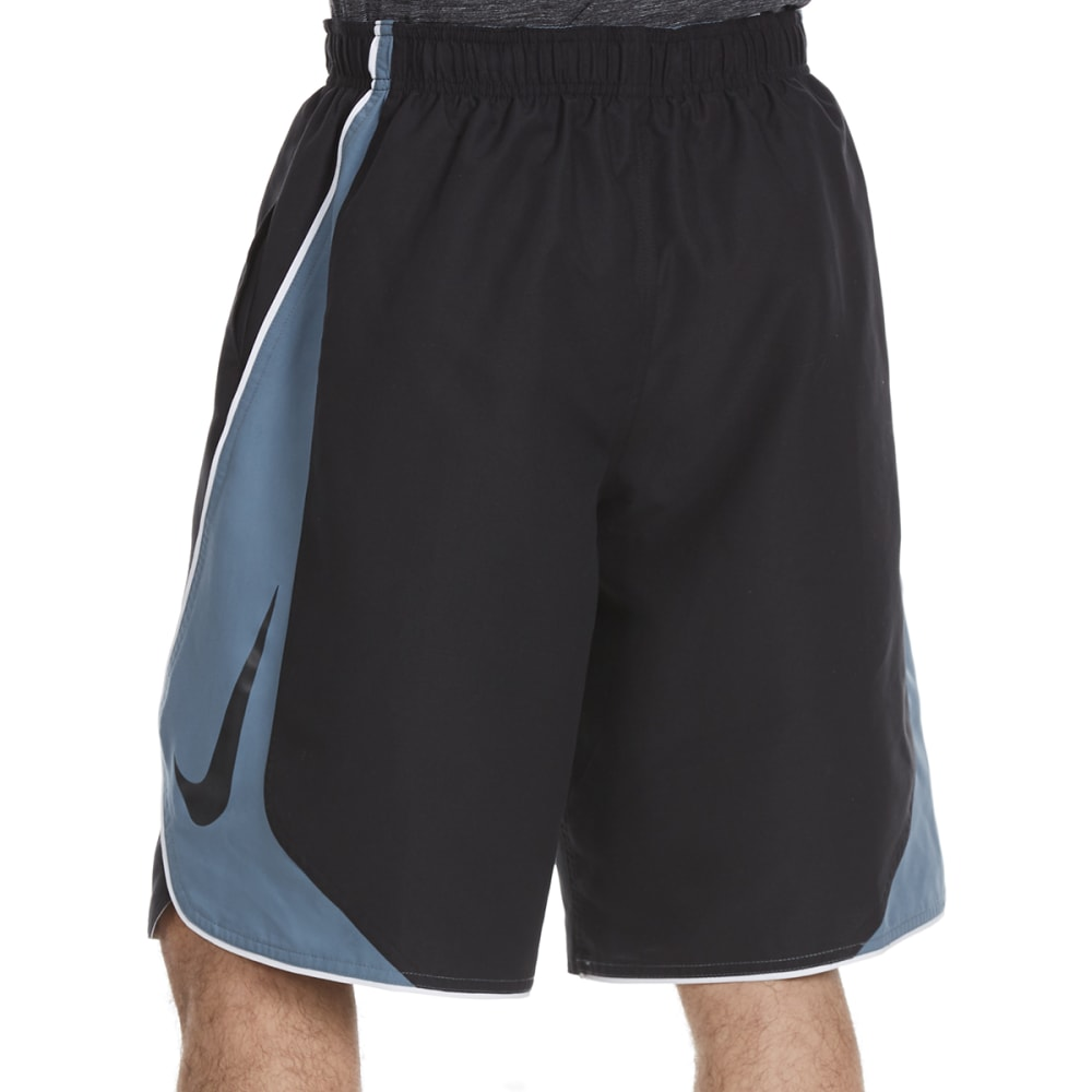 NIKE Men's 11 in. Color Surge Swim Shorts - BLK/GRAPH-001