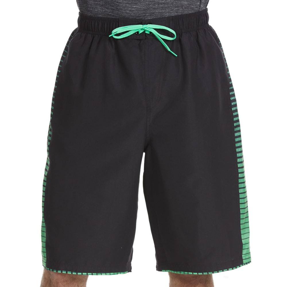 NIKE Men's 11 in. Continuum Splice Swim Shorts - BLK/GRN-001