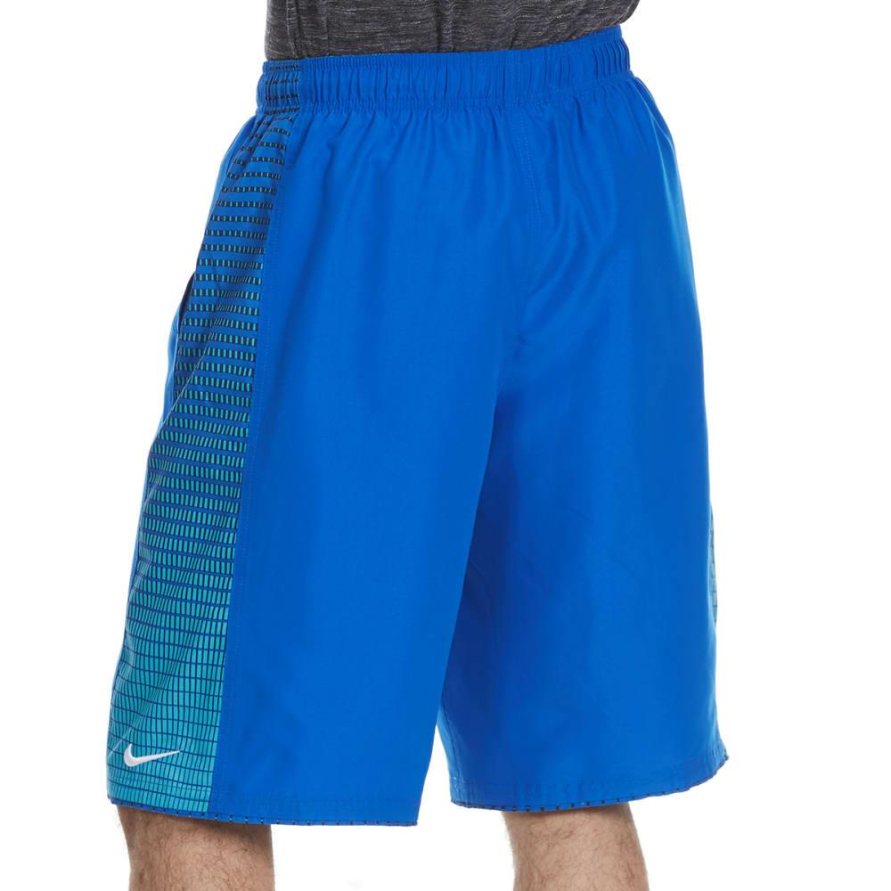 NIKE Men's 11 in. Continuum Splice Swim Shorts - HYPER COBALT-425