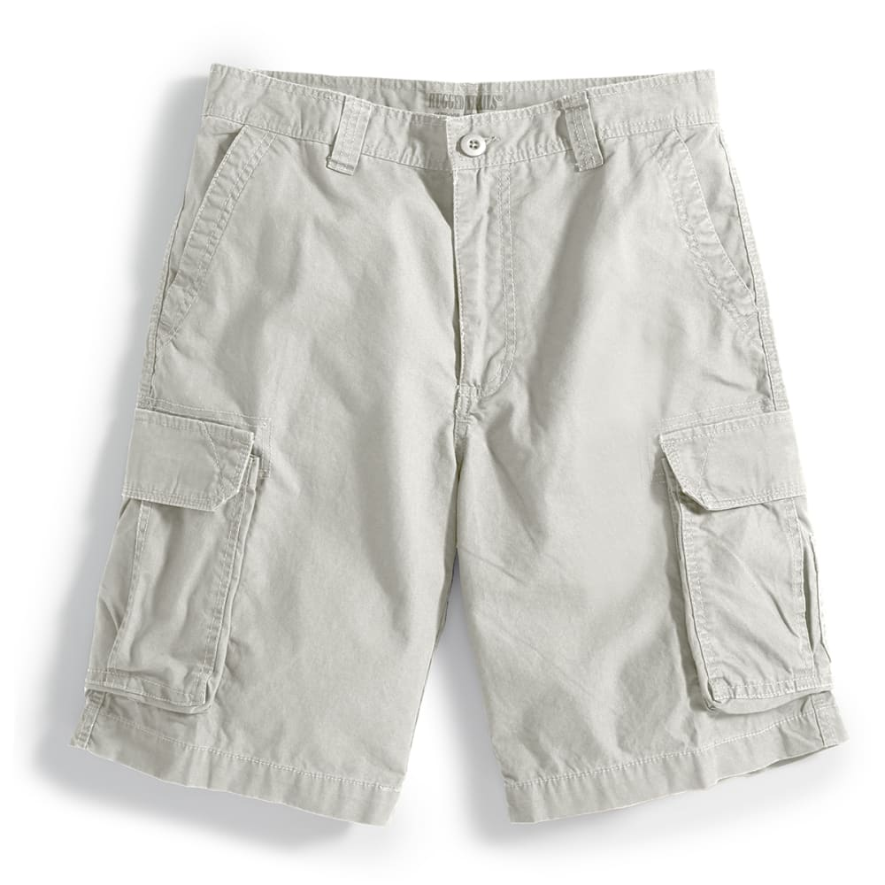 RUGGED TRAILS Men's Solid Cargo Shorts - STONE