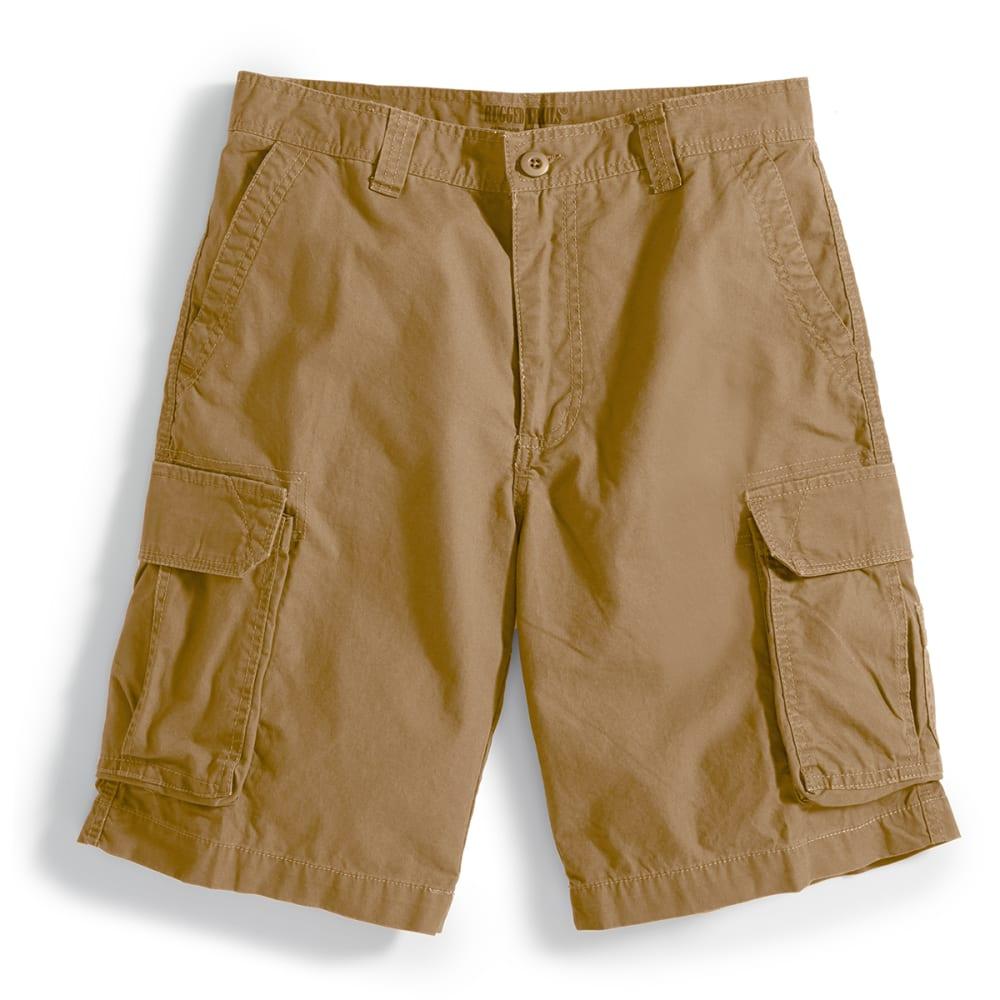 RUGGED TRAILS Men's Solid Cargo Shorts - DESSERT CAMEL