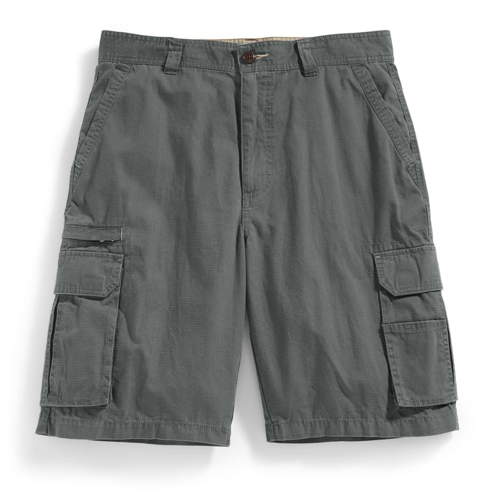 RUGGED TRAILS Men's Ripstop Cargo Shorts - OLIVE