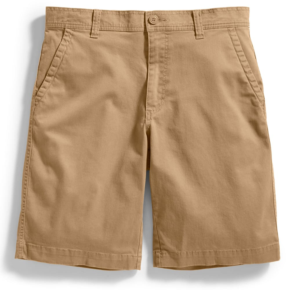 D55 Guys Flat Front Shorts - Brown, 29