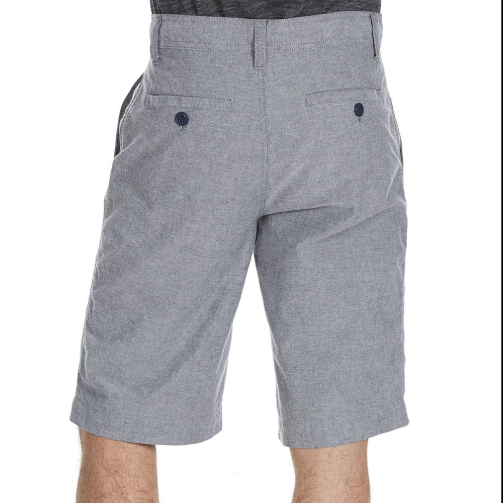 D55 Guys' Flat Front Chambray Shorts - CHAMBRAY NAVY