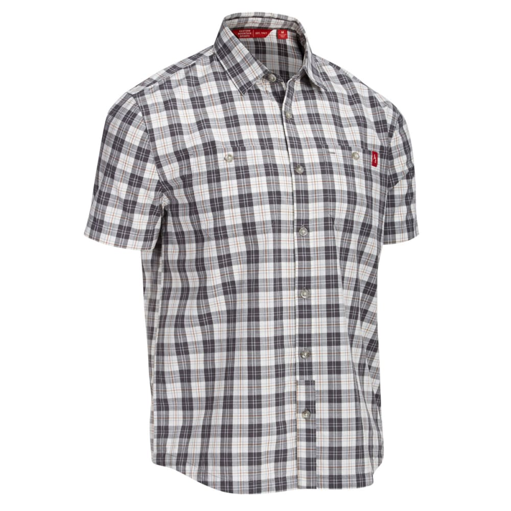 EMS Men's Ranger Plaid Short-Sleeve Shirt - PEWTER
