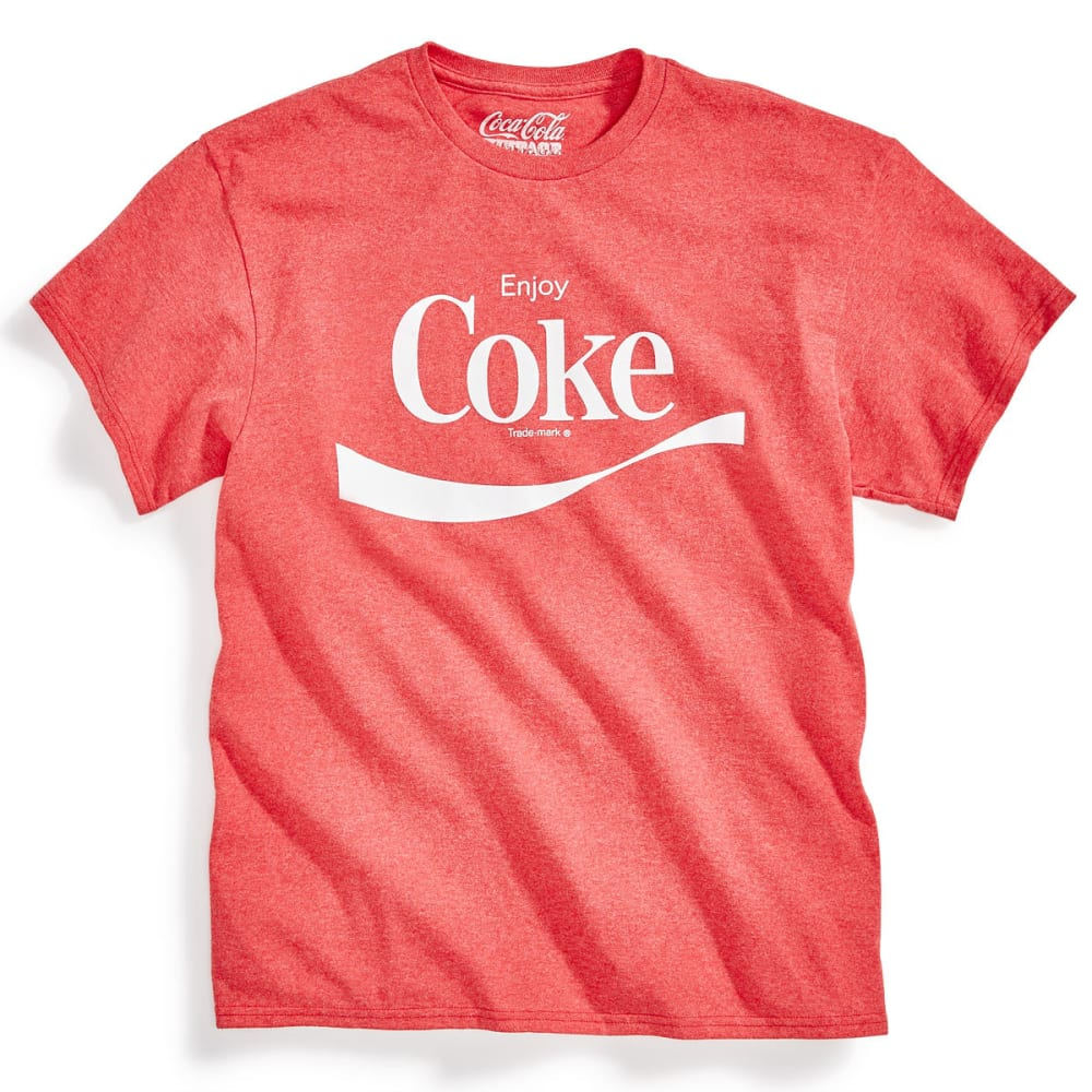 HYBRID Guys' Coke Swoosh Short Sleeve Tee - RED HEATHER