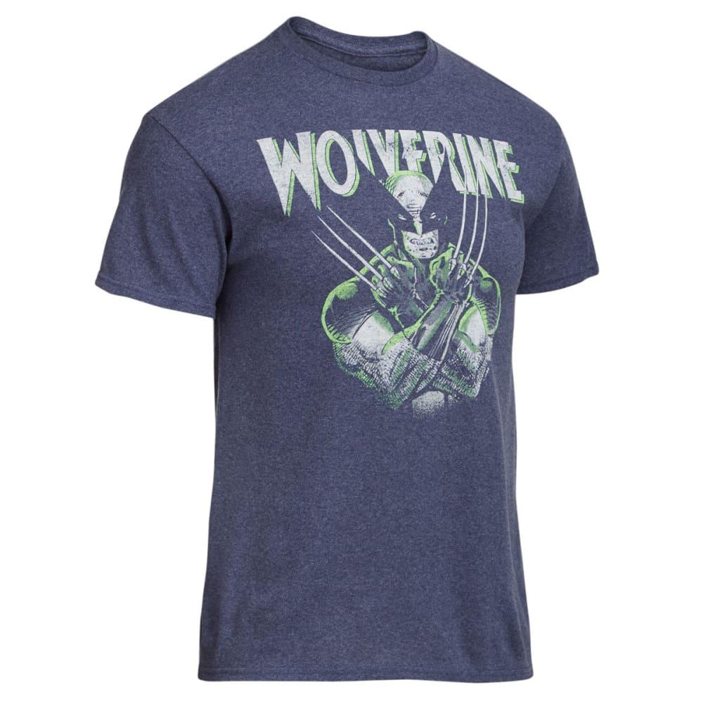 HYBRID Guys' Wolverine Short Sleeve Tee - NVY HTR