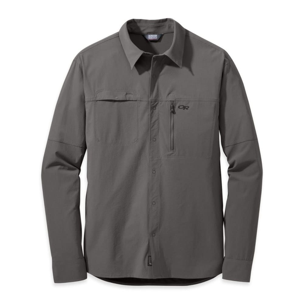 OUTDOOR RESEARCH Men's Ferrosi Utility Long-Sleeve Shirt - PEWTER
