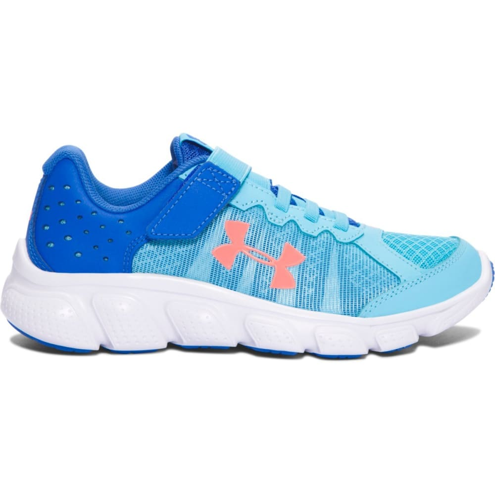 UNDER ARMOUR Girls' Pre-School Assert 6 AC Running Shoes, Venetian Blue 1