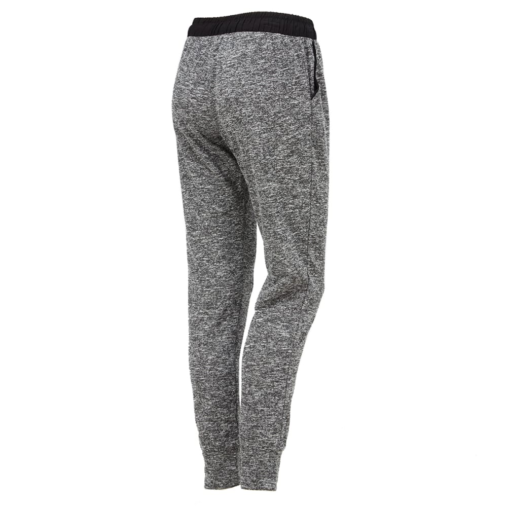AMBIANCE Juniors' Two-Tone French Terry Jogger Pants - BLACK/CHARCOAL