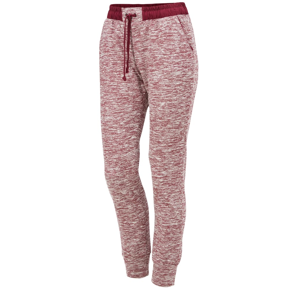 AMBIANCE Juniors' Two-Tone French Terry Jogger Pants S