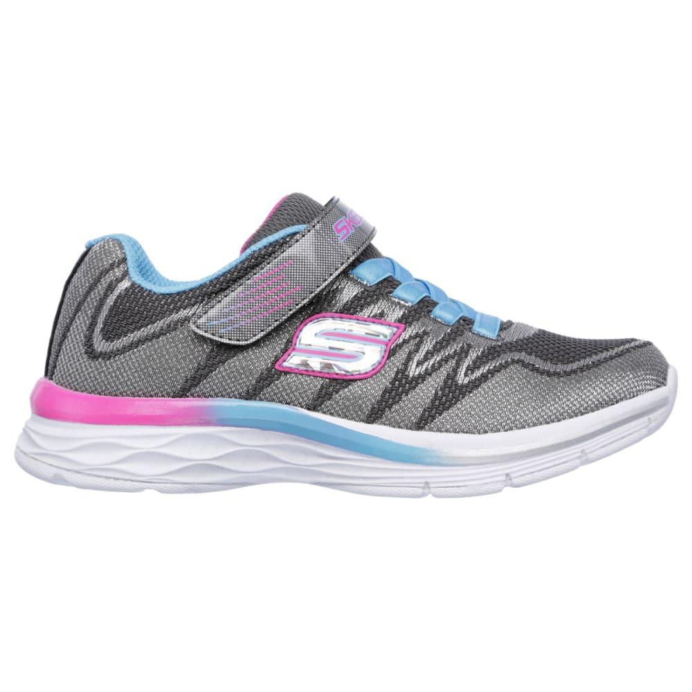 SKECHERS Girls' Dream N Dash - Whimsy Girl Sneakers, Charcoal/Turquoise - CHAR/TURQ