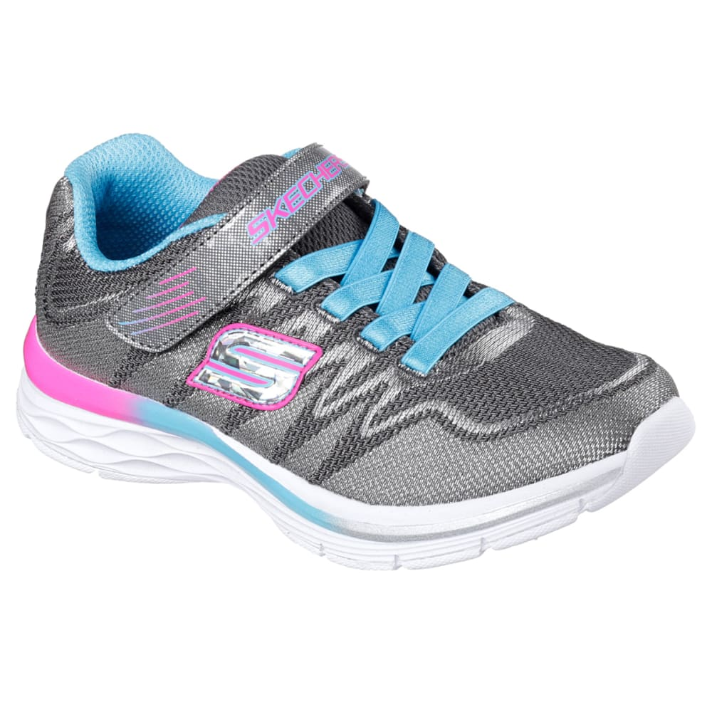 SKECHERS Girls' Dream N Dash - Whimsy Girl Sneakers, Charcoal/Turquoise - CHAR/TURQ