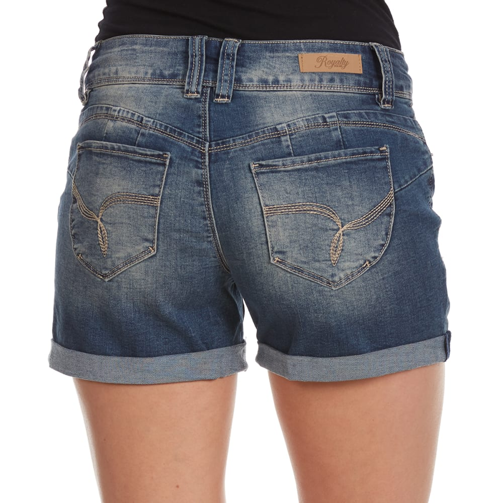 Y.M.I. Juniors' Wanna Betta Butt Roll Cuff Shorts - R59-MED
