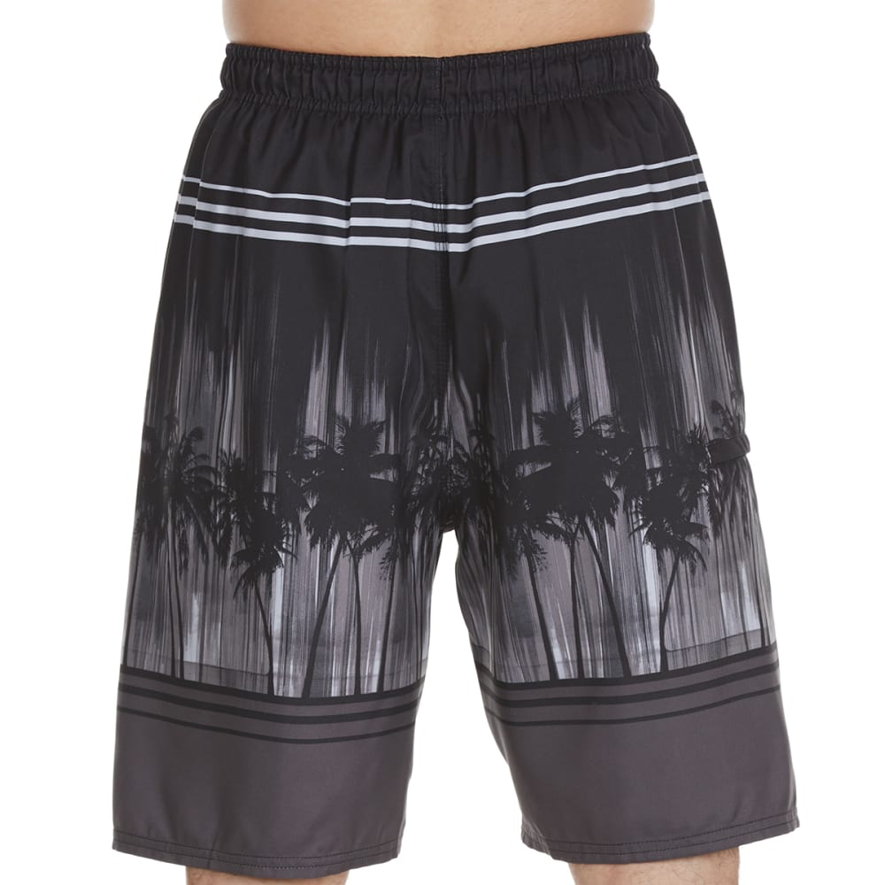 Burnside Guys Illuminated Palms Swim Shorts - Black, S