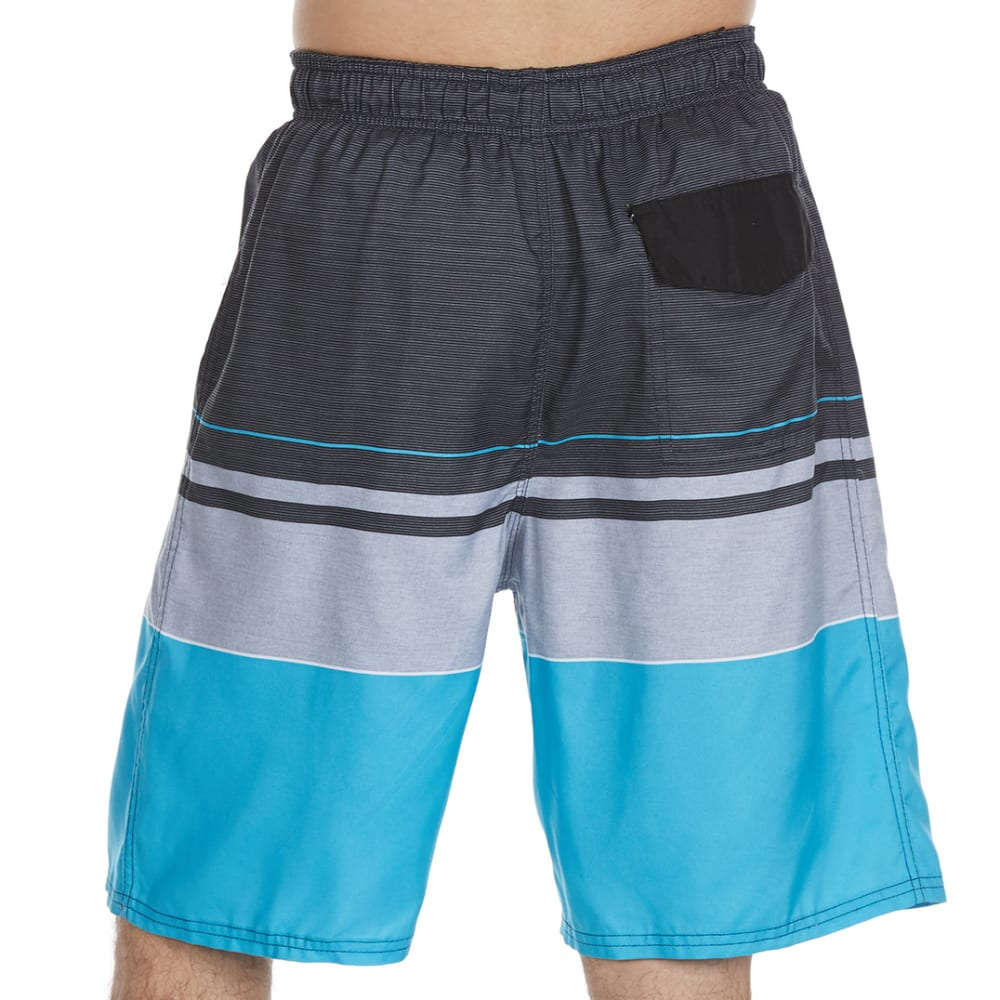 BURNSIDE Men's Empire Swim Shorts - TURQUOISE