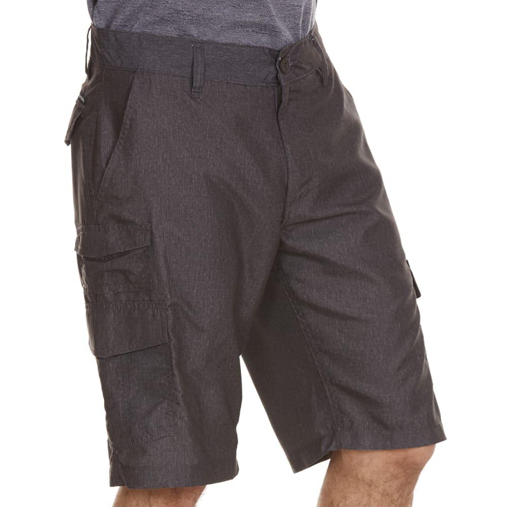 BURNSIDE Guys' Microfiber Shorts - H CHARCOAL