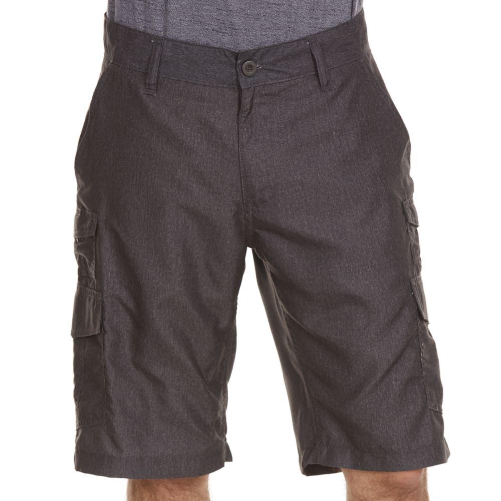 BURNSIDE Guys' Microfiber Shorts - H CHARCOAL