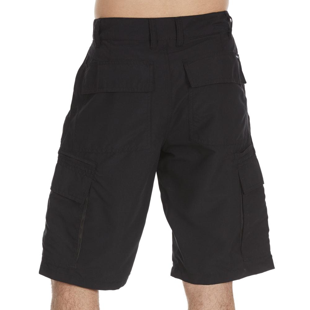 BURNSIDE Guys' Solid Microfiber Shorts - BLACK