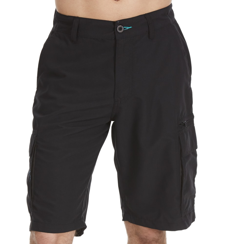 Burnside Guys Solid Microfiber Shorts - Black, 30