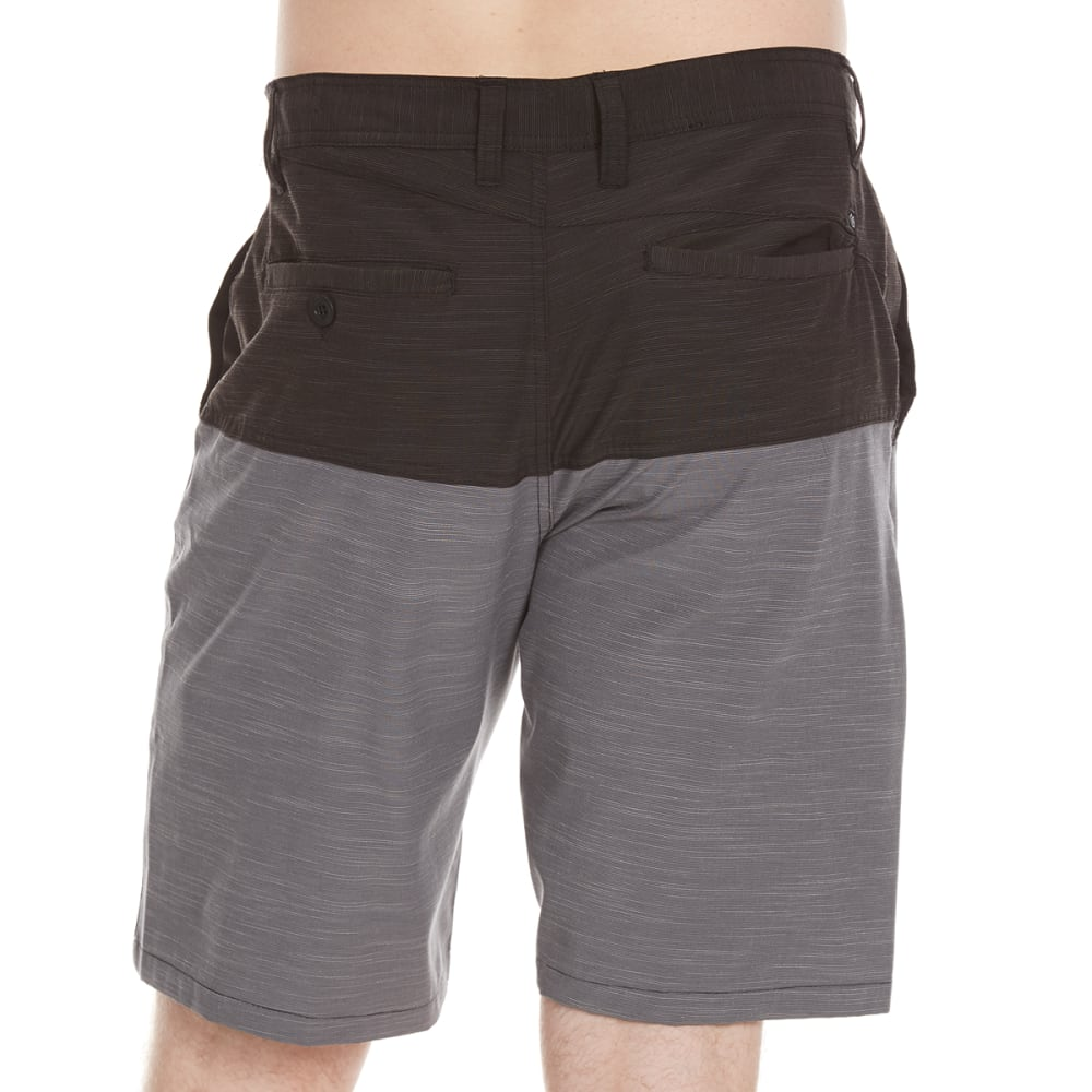 BURNSIDE Guys' Dual Function Color-Blocked Shorts - BLACK