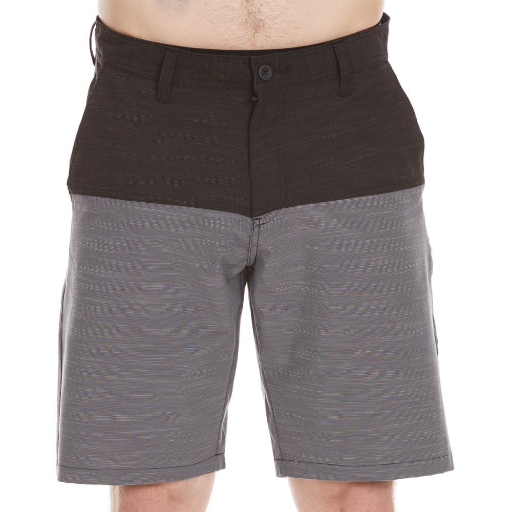 Burnside Guys Dual Function Color-Blocked Shorts - Black, 30