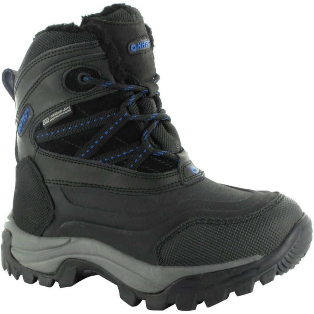 HI-TEC Kids' Snow Peak 200 WP Jr. Boots - BLACK