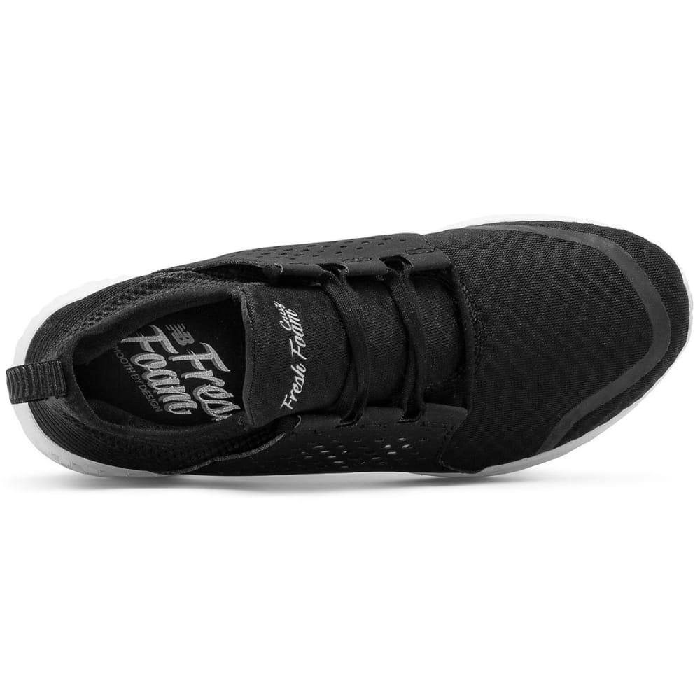 NEW BALANCE Women's Fresh Foam Cruz Running Shoes, Black/White - BLACK