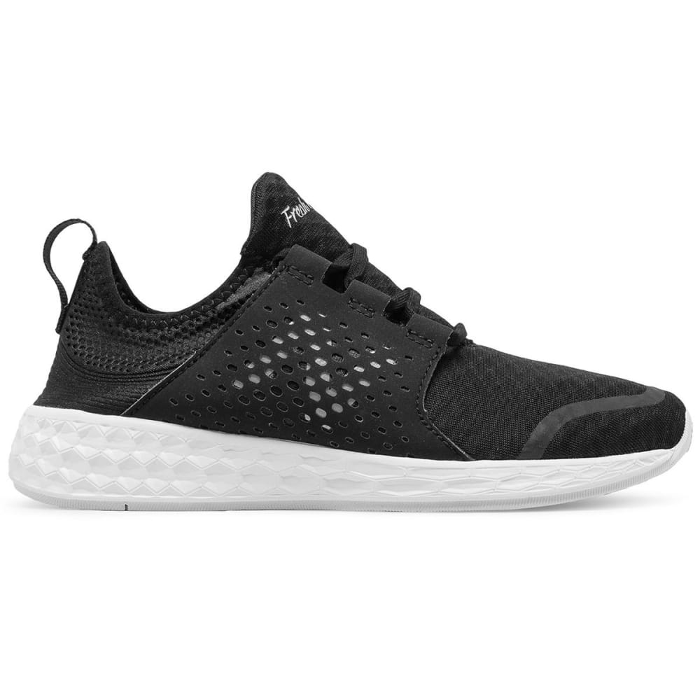 NEW BALANCE Women's Fresh Foam Cruz Running Shoes, Black/White - BLACK