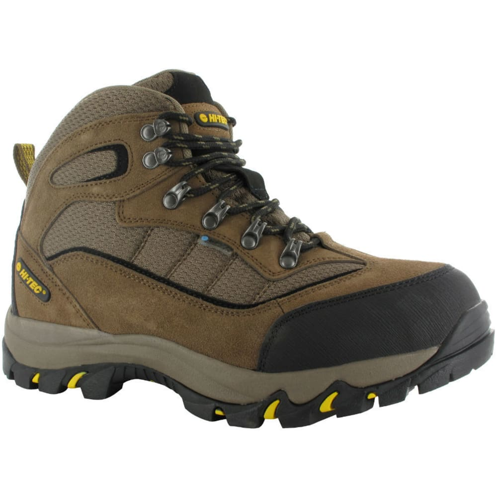 HI-TEC Men's Skamania Mid Waterproof Boots, Wide - BROWN/GOLD