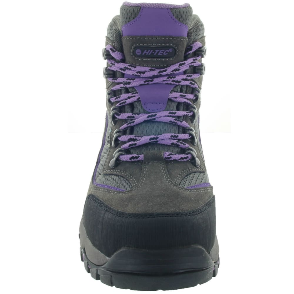 HI-TEC Women's Skamania Mid Waterproof Boots, Wide - GREY/VIOLA