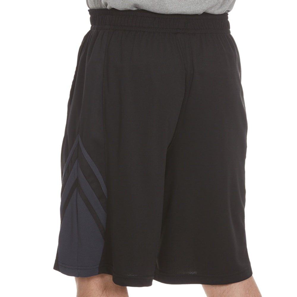AND1 Men's Arc Baller Mesh Shorts - BLACK-S143