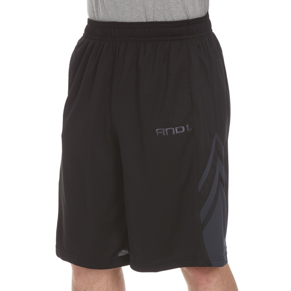 And1 Men's Arc Baller Mesh Shorts - Black, S