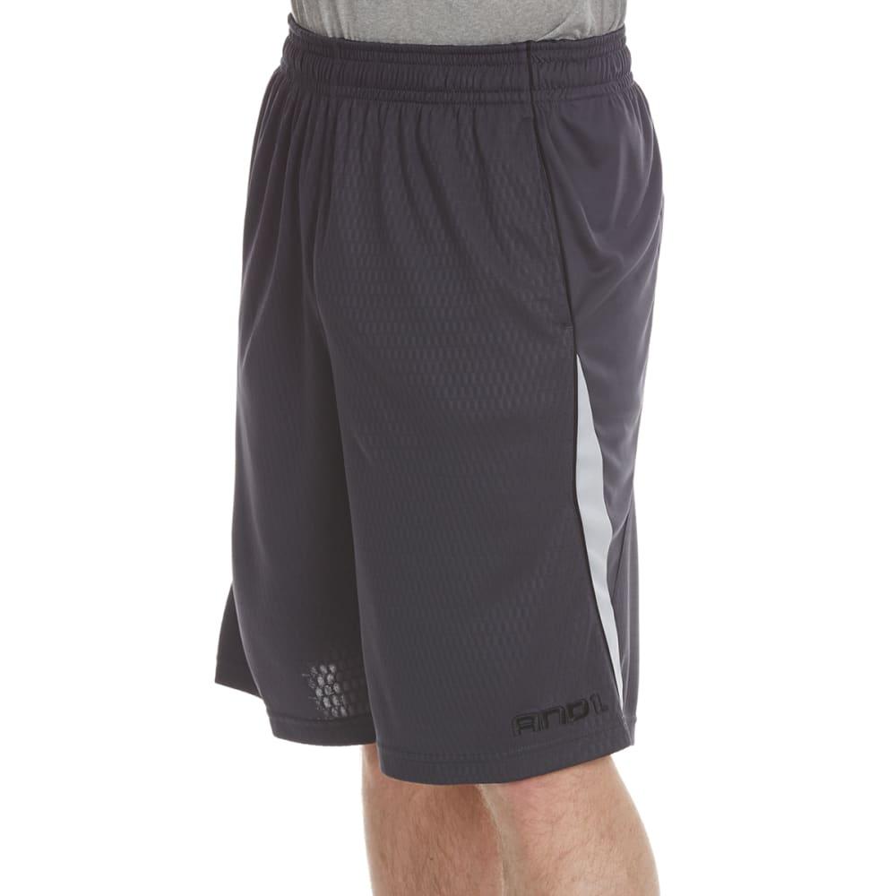 AND1 Men's Disruptive Honeycomb Mesh Shorts S