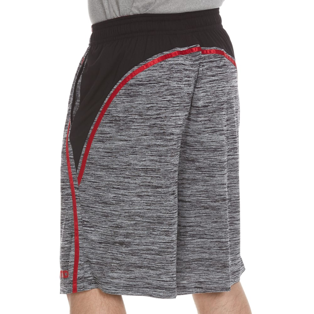 AND1 Men's Floor General Space-Dye Shorts - BLACK-S143