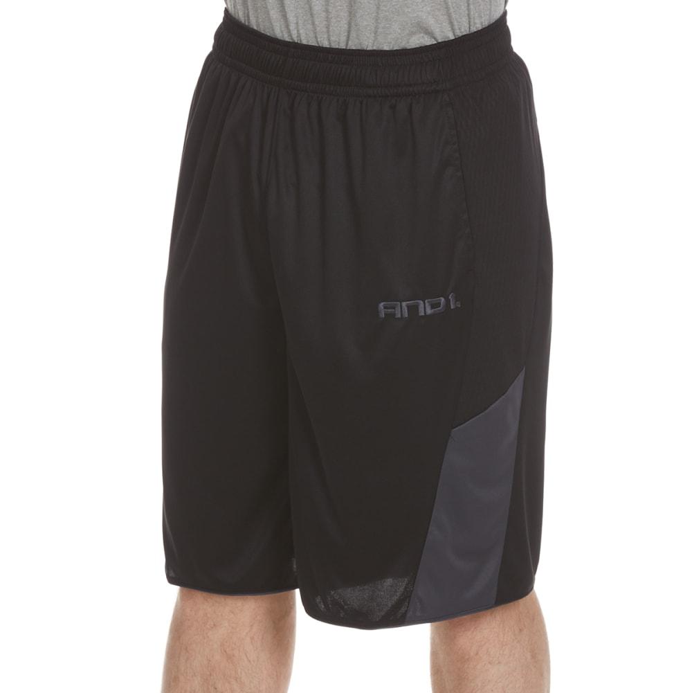 AND1 Men's Legend Interlock Shorts - BLACK-S143