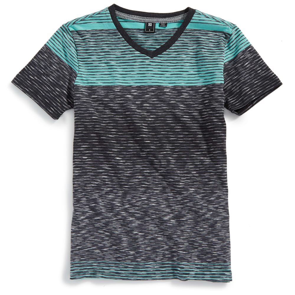 OCEAN CURRENT Boys' Textured Slub V-Neck Short-Sleeve Tee - MINT