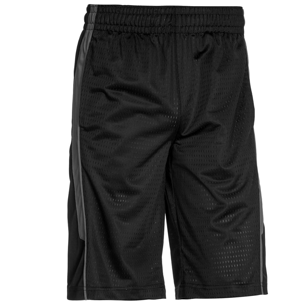 SPALDING Men's Reverse Dazzle Basketball Shorts - BLACK/CONCRETE-075