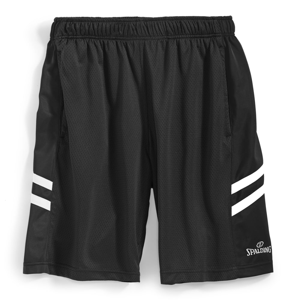 SPALDING Men's Ultra Mesh Performance Shorts - BLACK/WHITE-001