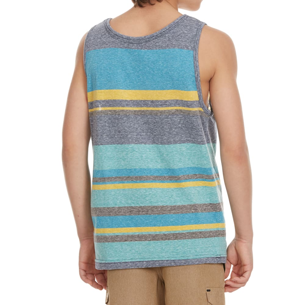 OCEAN CURRENT Boys' Latter Snow Heather Striped Tank Top - REAL TEAL