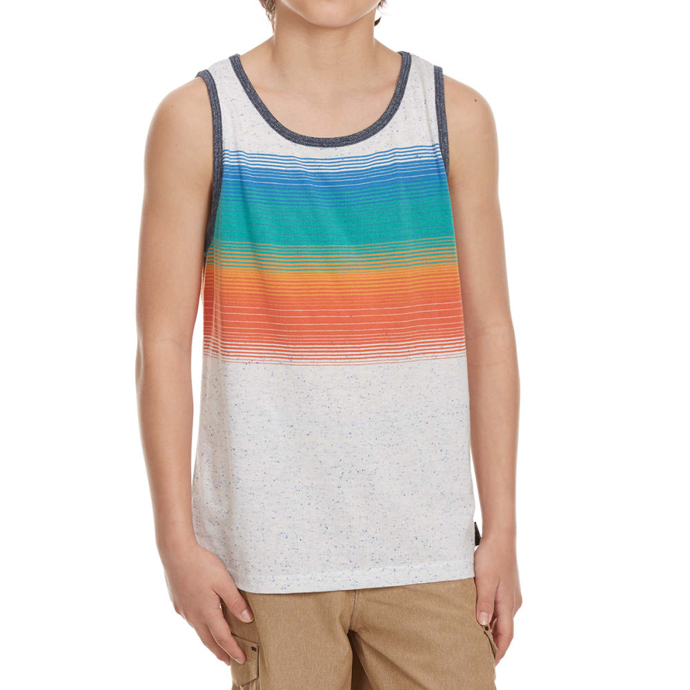OCEAN CURRENT Boys' Districk Snow Nap Heather Chest Stripe Tank Top - MORDECAI