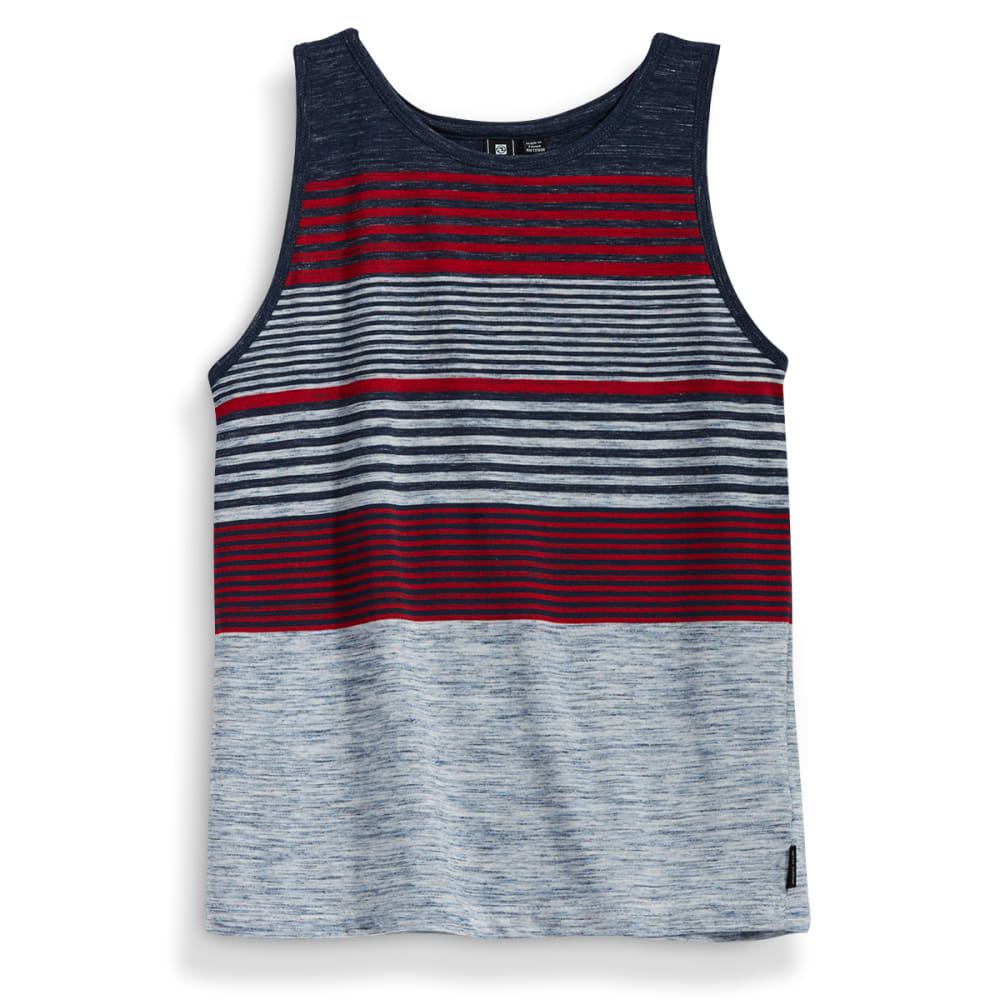 OCEAN CURRENT Boys' Steel Stripe Marled Jersey Tank Top - MIDNIGHT
