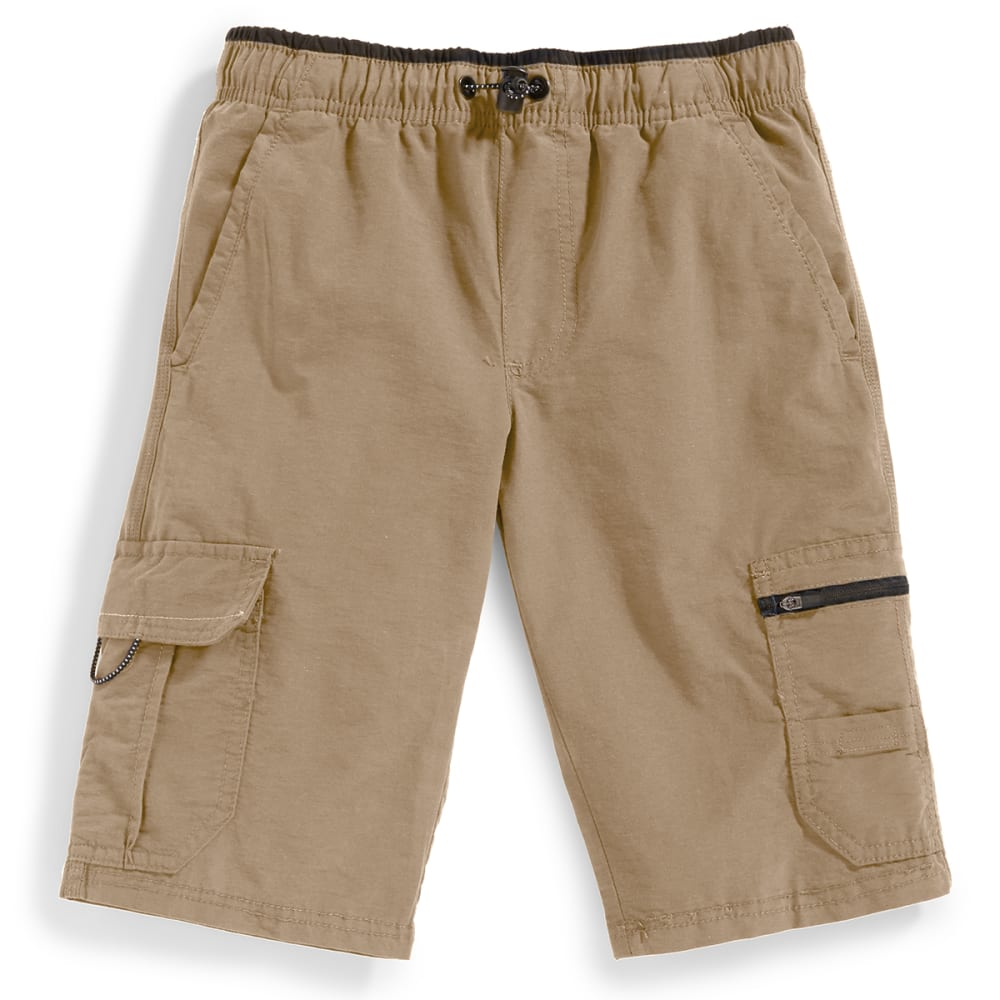 OCEAN CURRENT Boys' Runner Bungee Waist Shorts - KHAKI