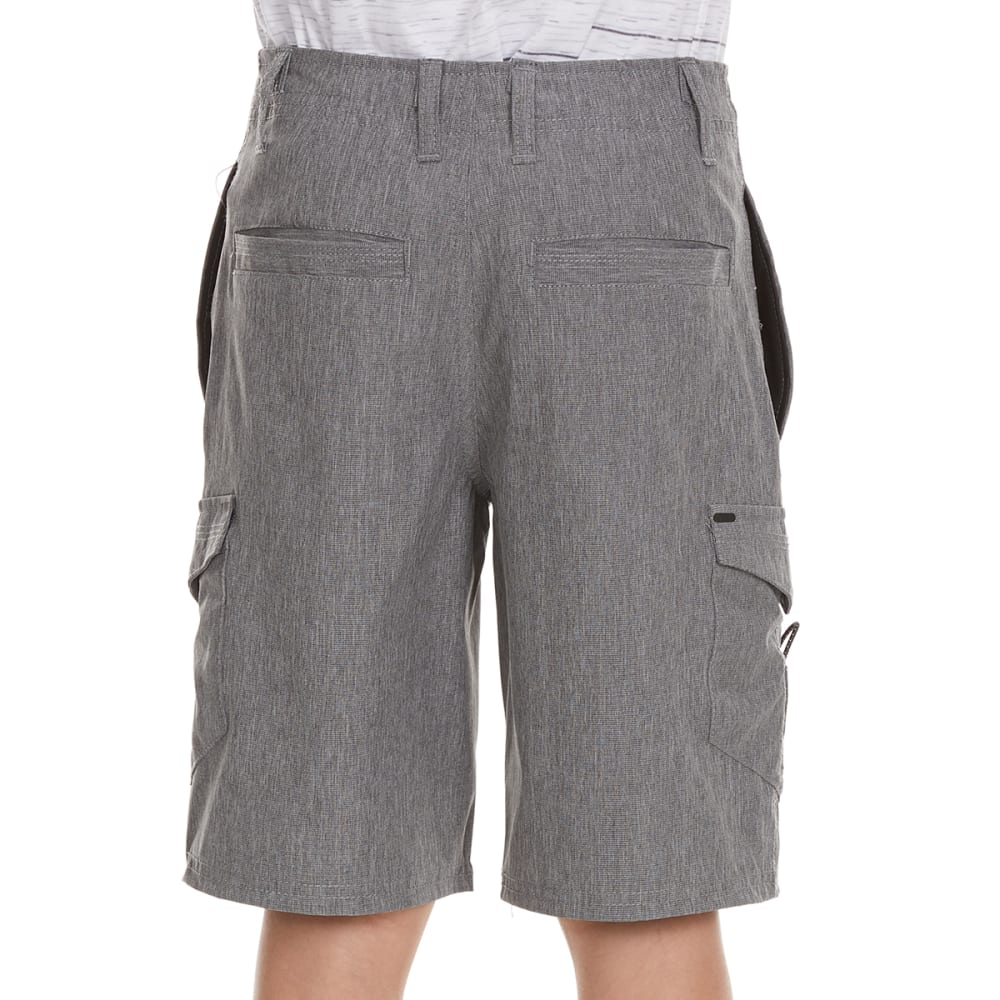 OCEAN CURRENT Boys' Wick Quick Dry Bedford Cargo Shorts - GUN