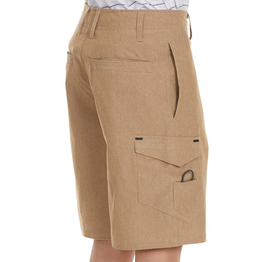OCEAN CURRENT Boys' Wick Quick Dry Bedford Cargo Shorts - KHAKI