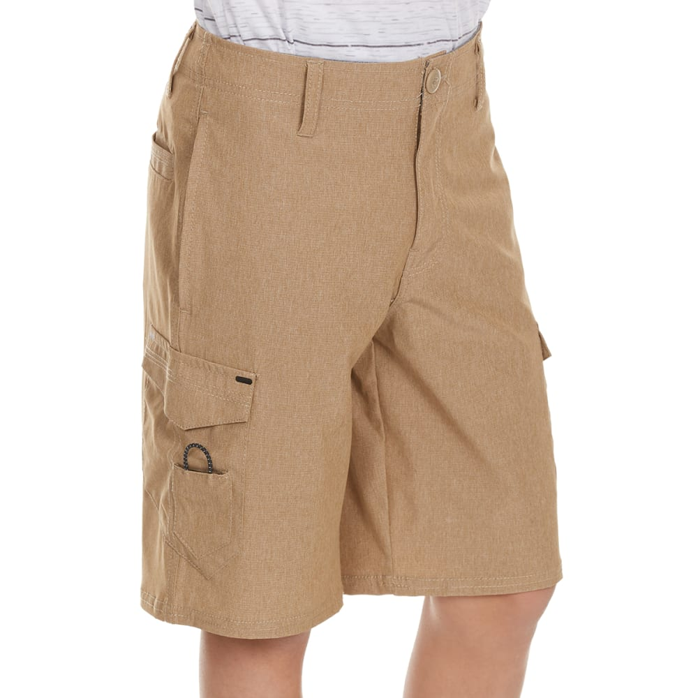 OCEAN CURRENT Boys' Wick Quick Dry Bedford Cargo Shorts - KHAKI