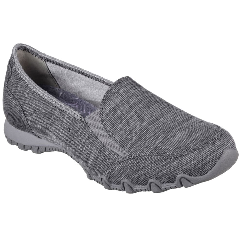 SKECHERS Women's Bikers Lounger Shoes - CHARCOAL